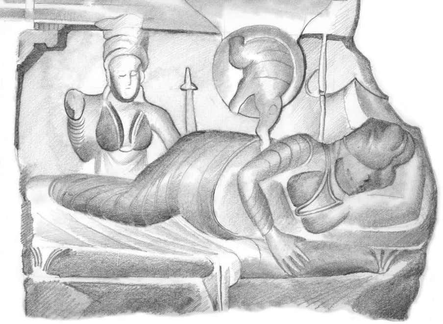 Figure 5.1: Māyā's dream: the conception of the Bodhisatta