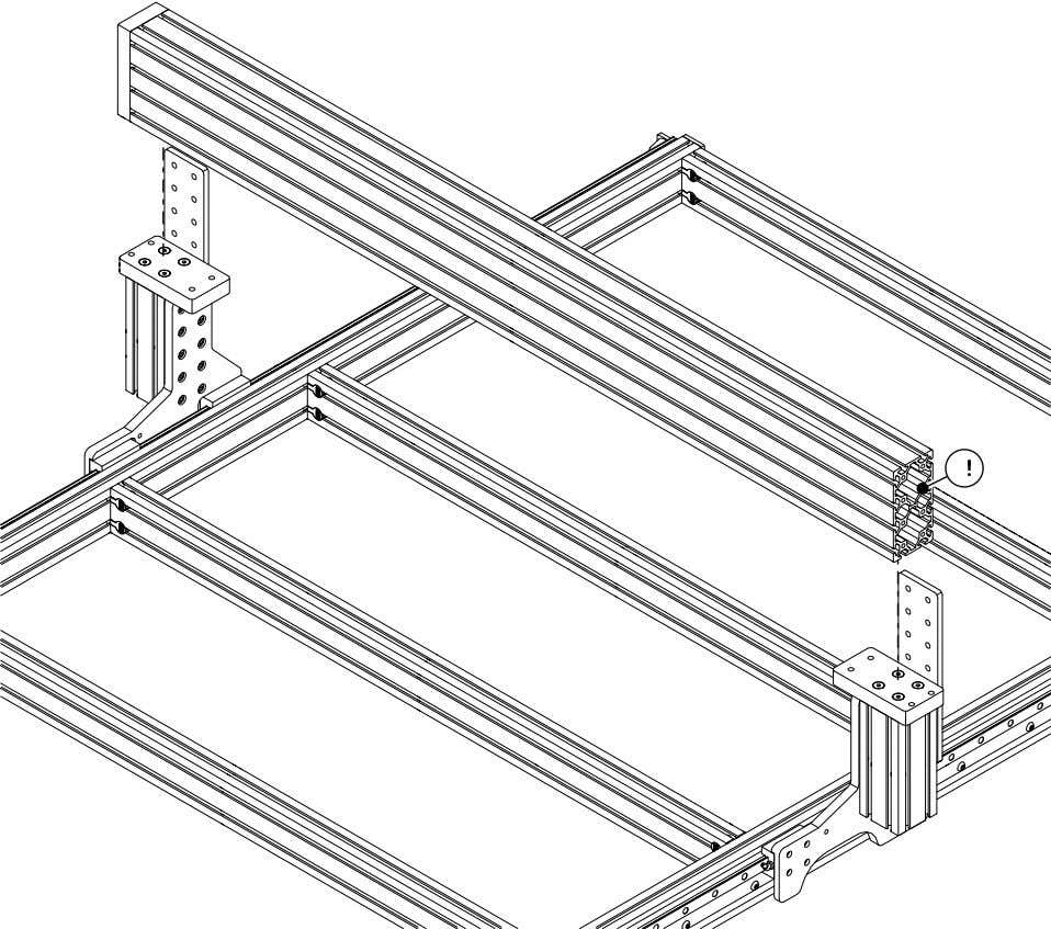 PRO Series 4848 Assembly 3.1. GANTRY EXTRUSION INSTALLATION • Carefully lower the extrusion onto the risers