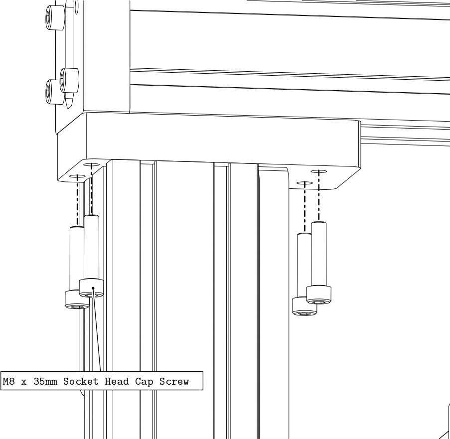 PRO Series 4848 Assembly 3.1. GANTRY EXTRUSION INSTALLATION • Attach the gantry to the Interface Plate