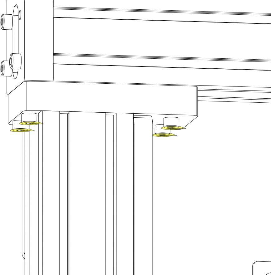 PRO Series 4848 Assembly 3.1. GANTRY EXTRUSION INSTALLATION • Partially tighten the highlighted fasteners. PRO Series