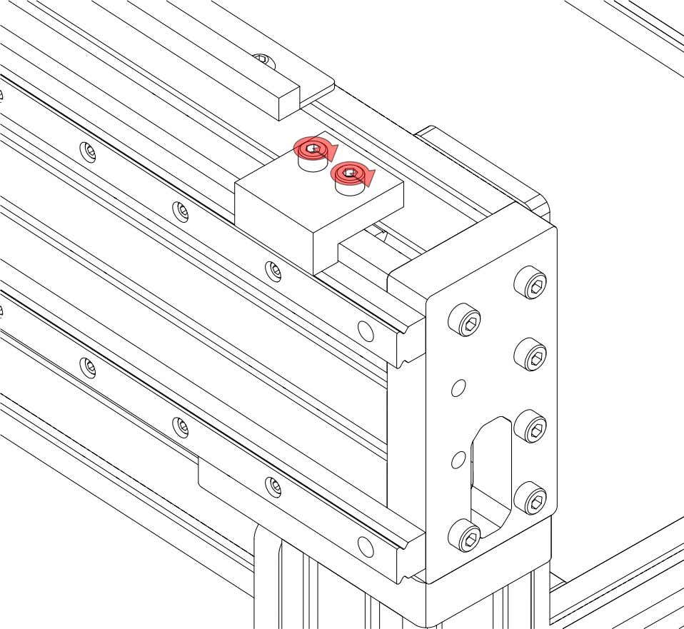 PRO Series 4848 Assembly 3.3. LINEAR RAIL INSTALLATION • Tighten the highlighted fasteners. PRO Series 4848