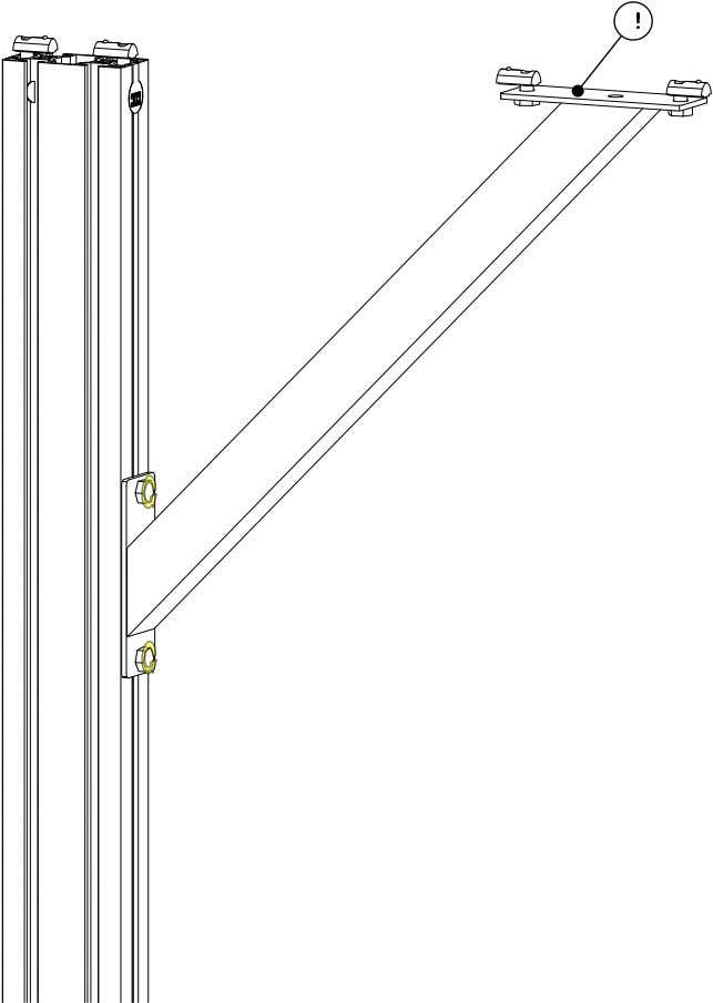 PRO Series 4848 Assembly 1.1. TABLE LEG ASSEMBLY • Partially tighten the highlighted fasteners. Note: The