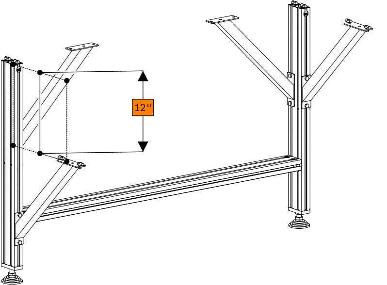 PRO Series 4848 Assembly 1.1. TABLE LEG ASSEMBLY • Install 3 additional gussets to the leg
