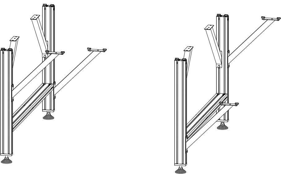 PRO Series 4848 Assembly 1.1. TABLE LEG ASSEMBLY • Repeat the previous steps with the remaining