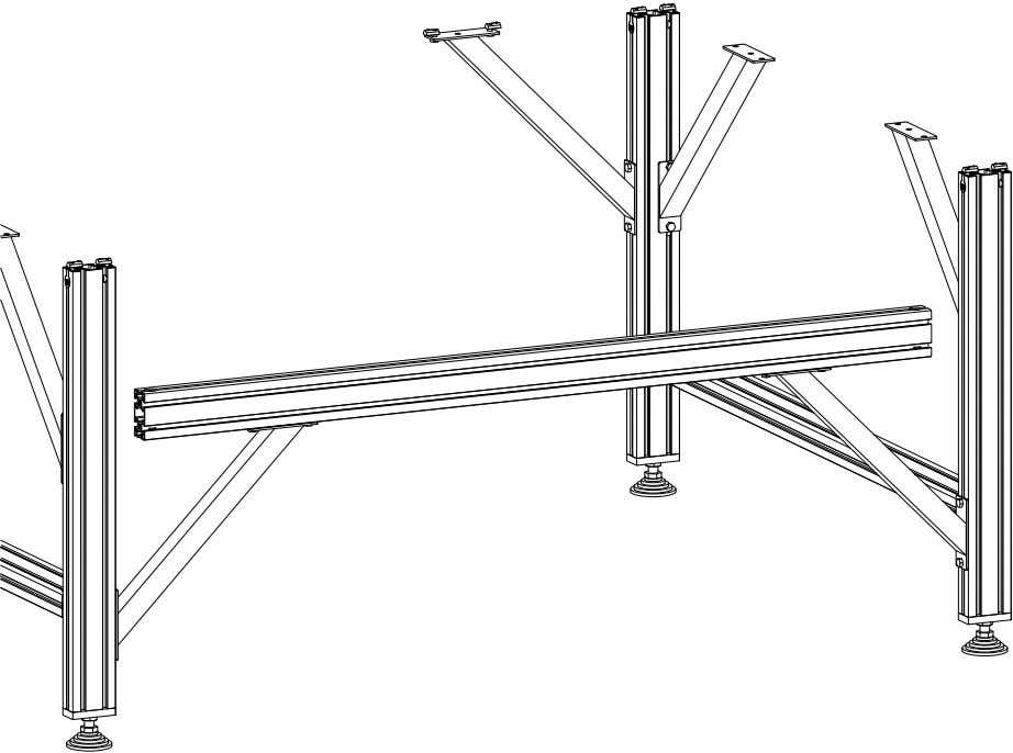 PRO Series 4848 Assembly 1.1. TABLE LEG ASSEMBLY • Leave some space between the electronics mounting