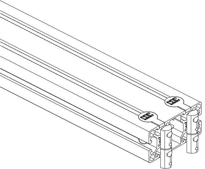 PRO Series 4848 Assembly 1.1. TABLE LEG ASSEMBLY • Slide the anchor assembly into the extrusion.