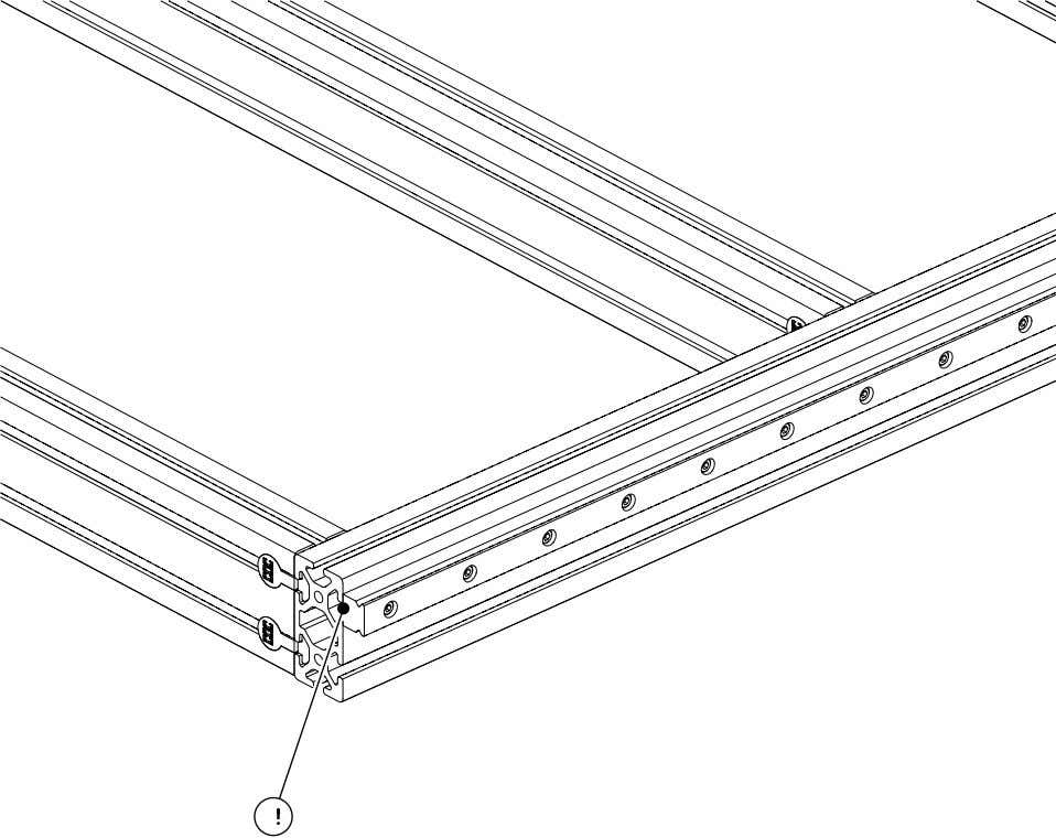 PRO Series 4848 Assembly 1.4. LINEAR RAIL INSTALLATION Note: The rail should be roughly flush with