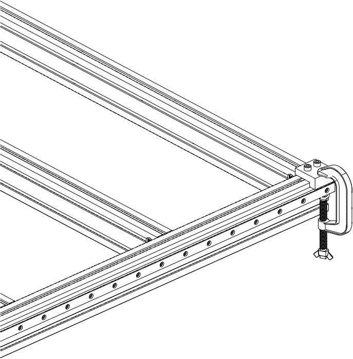 PRO Series 4848 Assembly 1.4. LINEAR RAIL INSTALLATION • Repeat the previous steps on the other