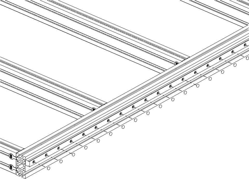 PRO Series 4848 Assembly 1.4. LINEAR RAIL INSTALLATION • Place plastic covers in each of the