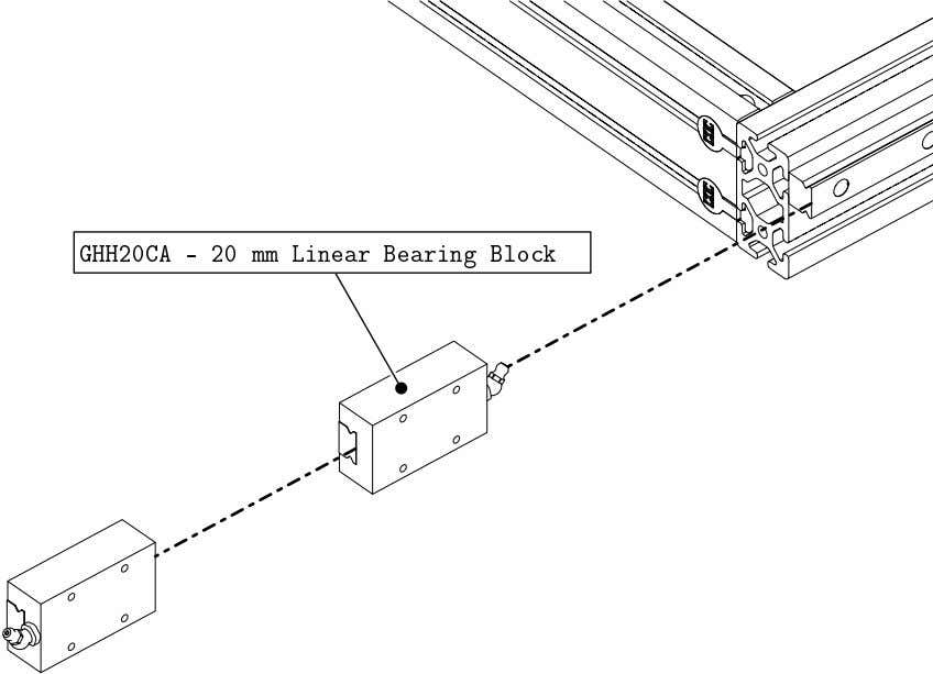 4848 Assembly 2.1. LINEAR BEARING BLOCK INSTALLATION • Slide two linear bearing blocks onto a rail