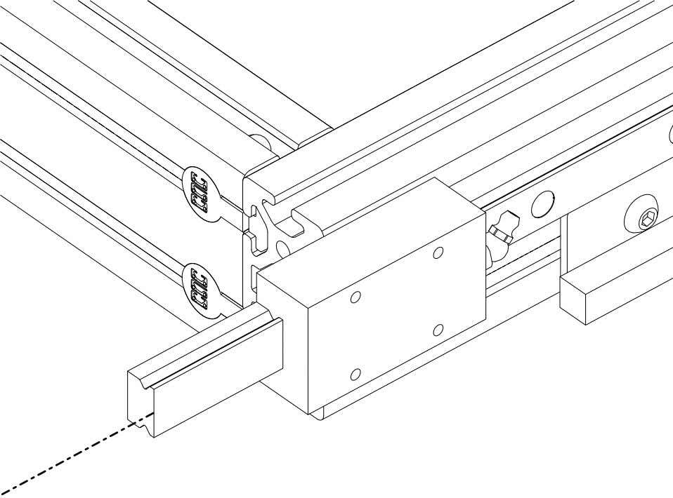 4848 Assembly 2.1. LINEAR BEARING BLOCK INSTALLATION • Use the rail to push the plastic bearing