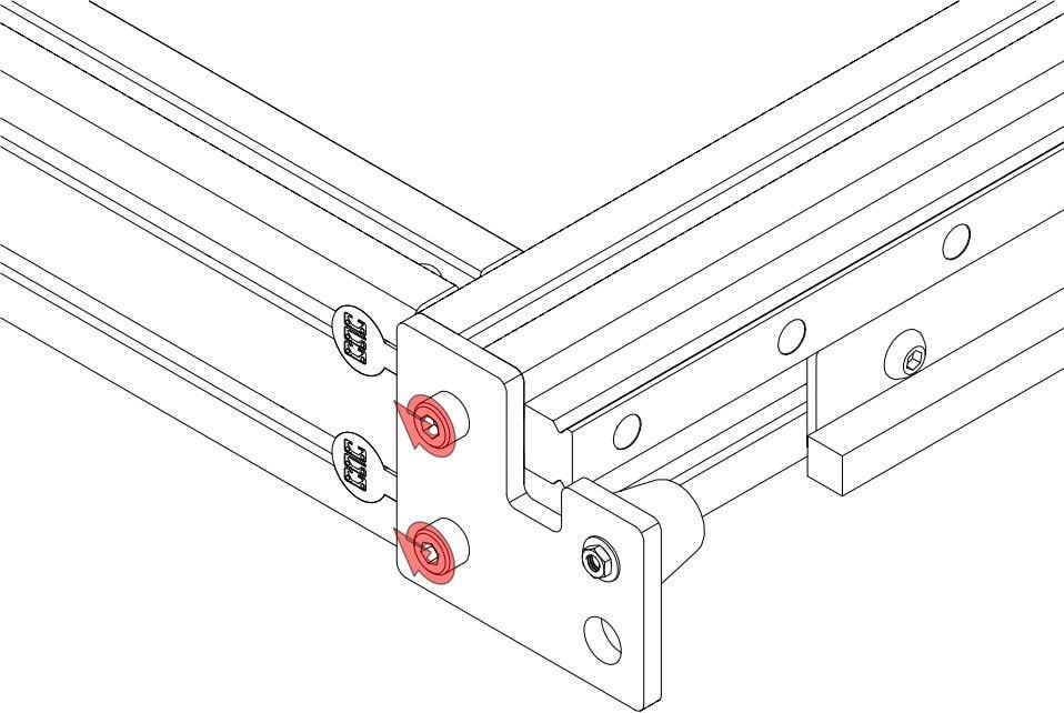 PRO Series 4848 Assembly 2.2. TABLE BUMPERS • Tighten the highlighted fasteners. PRO Series 4848 Assembly