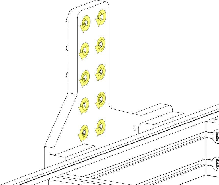 PRO Series 4848 Assembly 2.3. RISERS • Partially tighten the highlighted fasteners. PRO Series 4848 Assembly