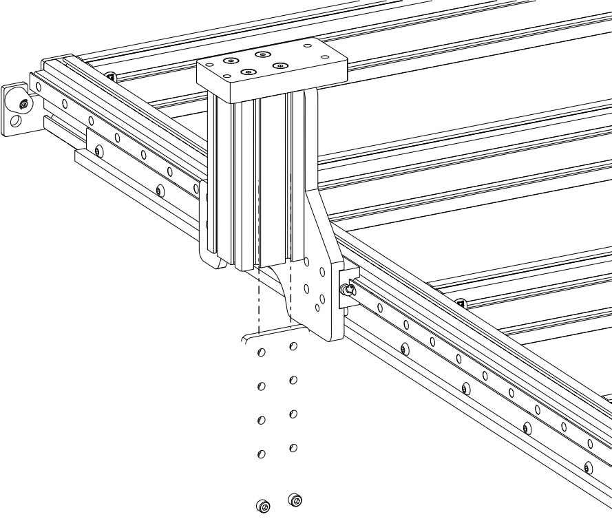 PRO Series 4848 Assembly 2.3. RISERS • Slide the Joining Plate into the indicated t-slots. PRO