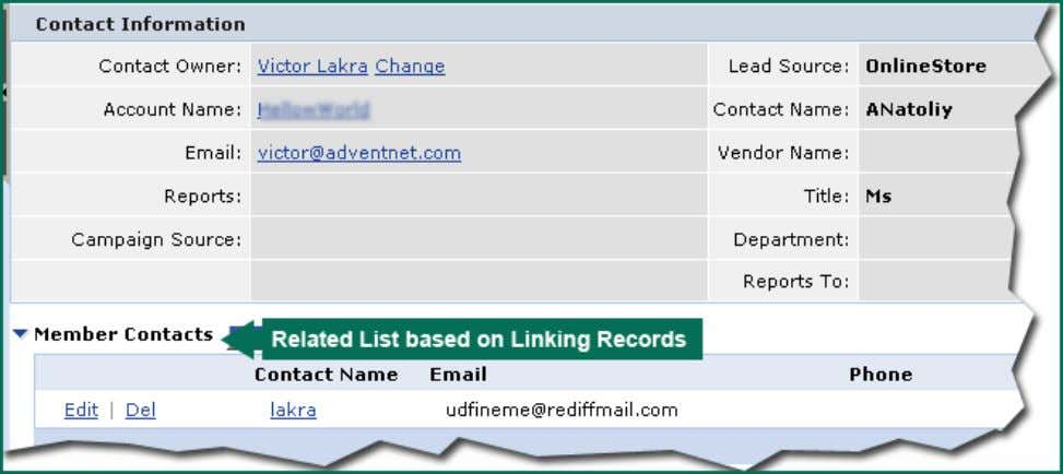 example, under Member Contacts section you can view all the contacts reporting to the primary contact