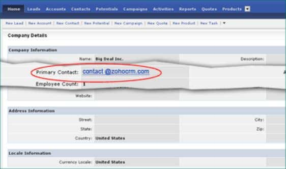 Details . 3. In the Company Details page, click on Edit  Primary Contact drop-down list.