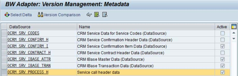 and version comparison but not for activation anymore. Figure 11: BW Adapter metadata (BWA5) SAP COMMUNITY