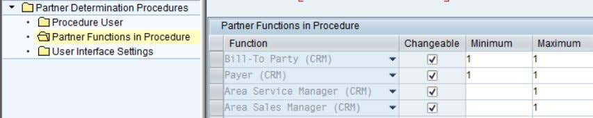 the respective partner function bears with the transaction. Figure 18: Partner function in business transactions (SPRO)