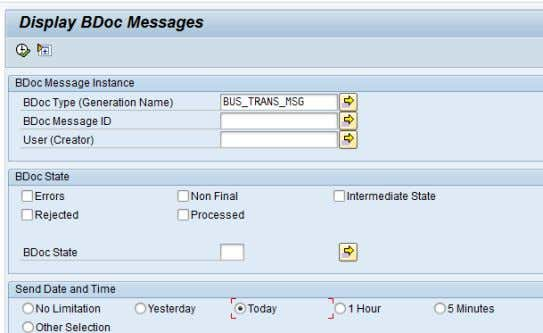 concerned, the BDoc BUS_TRANSACTION_MESSAGE is of interest. Figure 20: Display BDoc (SMW01) As a part of