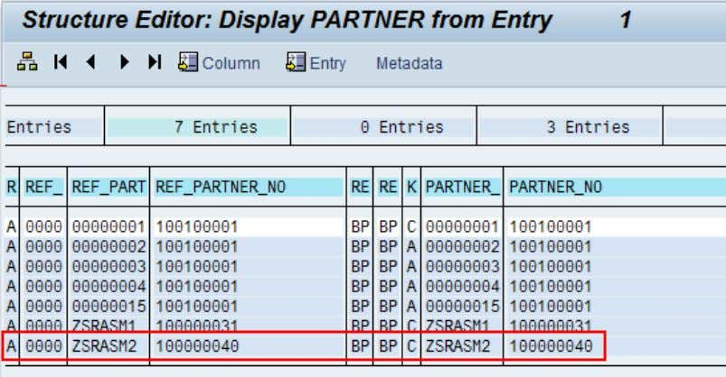 with the messaging BDoc, including the custom partner. Figure 22: Display BDoc partners for order object