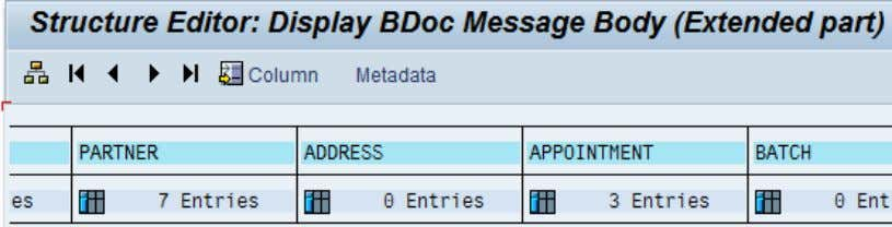 with the messaging BDoc, including those for the partners. Figure 21: Display BDoc body (SMW01) The