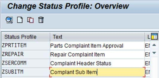 CRM (ADB) Data Extraction for Business Information Reporting Figure 57: Configuration of user status (SPRO) Here