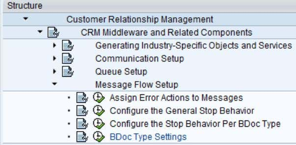 deactivate the same in customizing in the screenshot below. Figure 79: Customization to deactivate message flow
