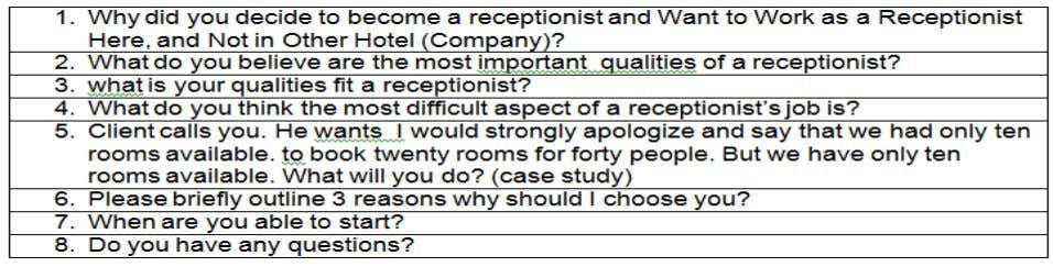 13. Report Interview Clip As an interviewer, before meeting with the candidates, there are two elements