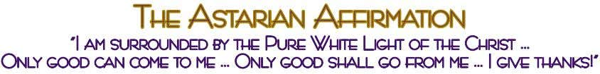 tHe aStarian aFFirmation