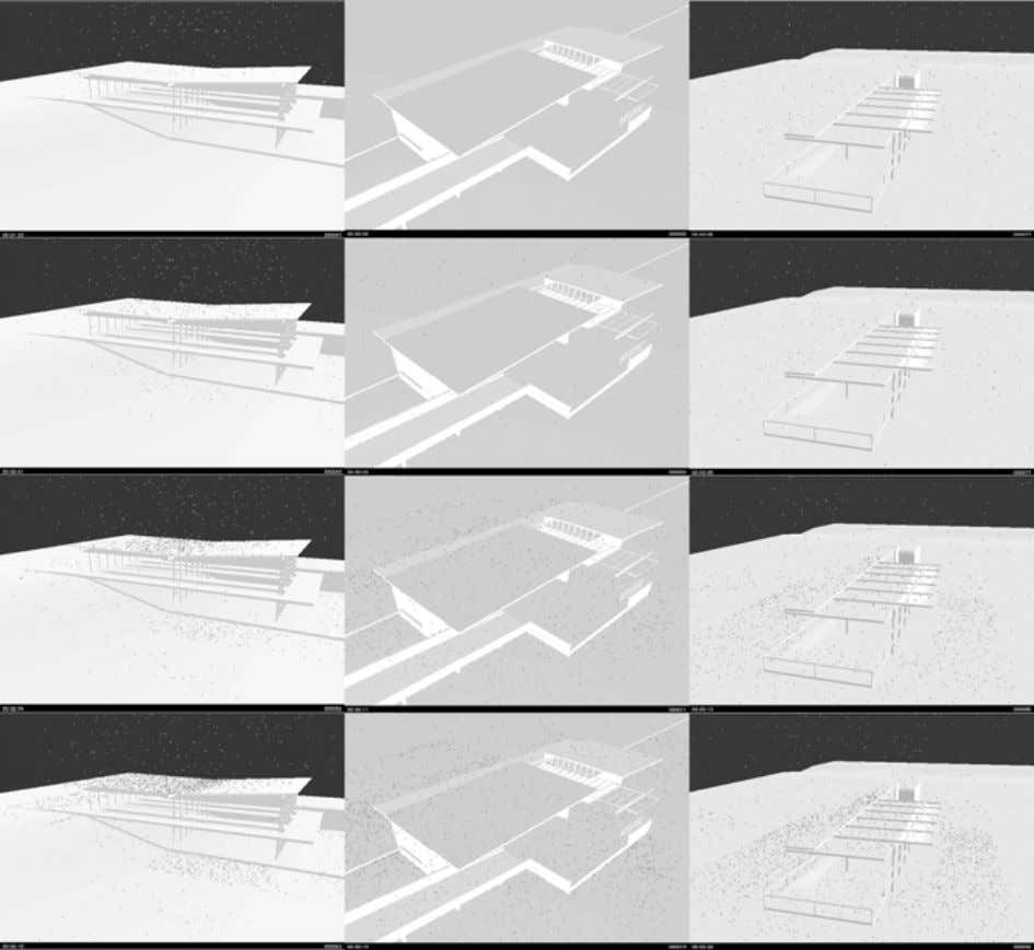 structures to more responsibly and poetically shed water? Figure 1: Captured stills from Maya. After a