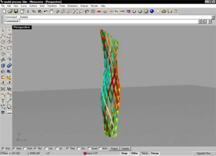 46 Digital Architecture and Construction Figure 7: Figure 8: 3D virtual model - diamond skin. 3D