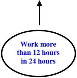Work more than 12 hours in 24 hours