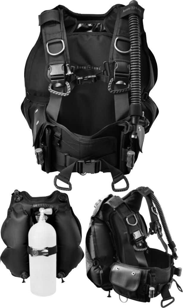BC'S & ACCESSORIES BC-1 The Aqua Lung BC1is a rugged, weight-integrated, back inflation BC designed with