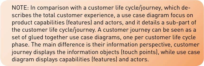 NOTE: In comparison with a customer life cycle/journey, which de- scribes the total customer experience,
