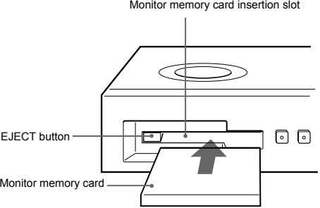 Monitor memory card insertion slot EJECT button Monitor memory card