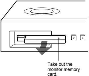 Take out the monitor memory card.