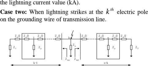 the lightning current value (kA). th Case two: When lightning strikes at the on the