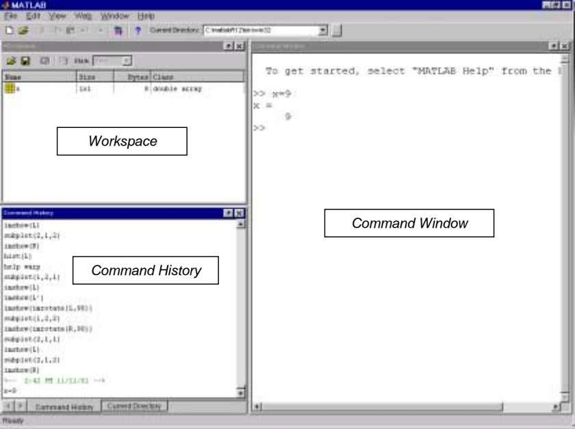 Workspace Command Window Command History