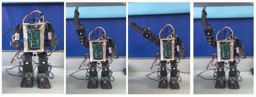 of speaker recognition implementation on Bioloid GP robot Fig. 10. Implementation of robot motion response during