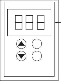 Figure 9: Remote Keypad Display, Front and Rear Views 3-characters Connector access switch The access switch