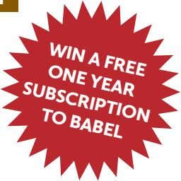 WiN Free ONe tO A yeAr suBsCriPtiON BABeL