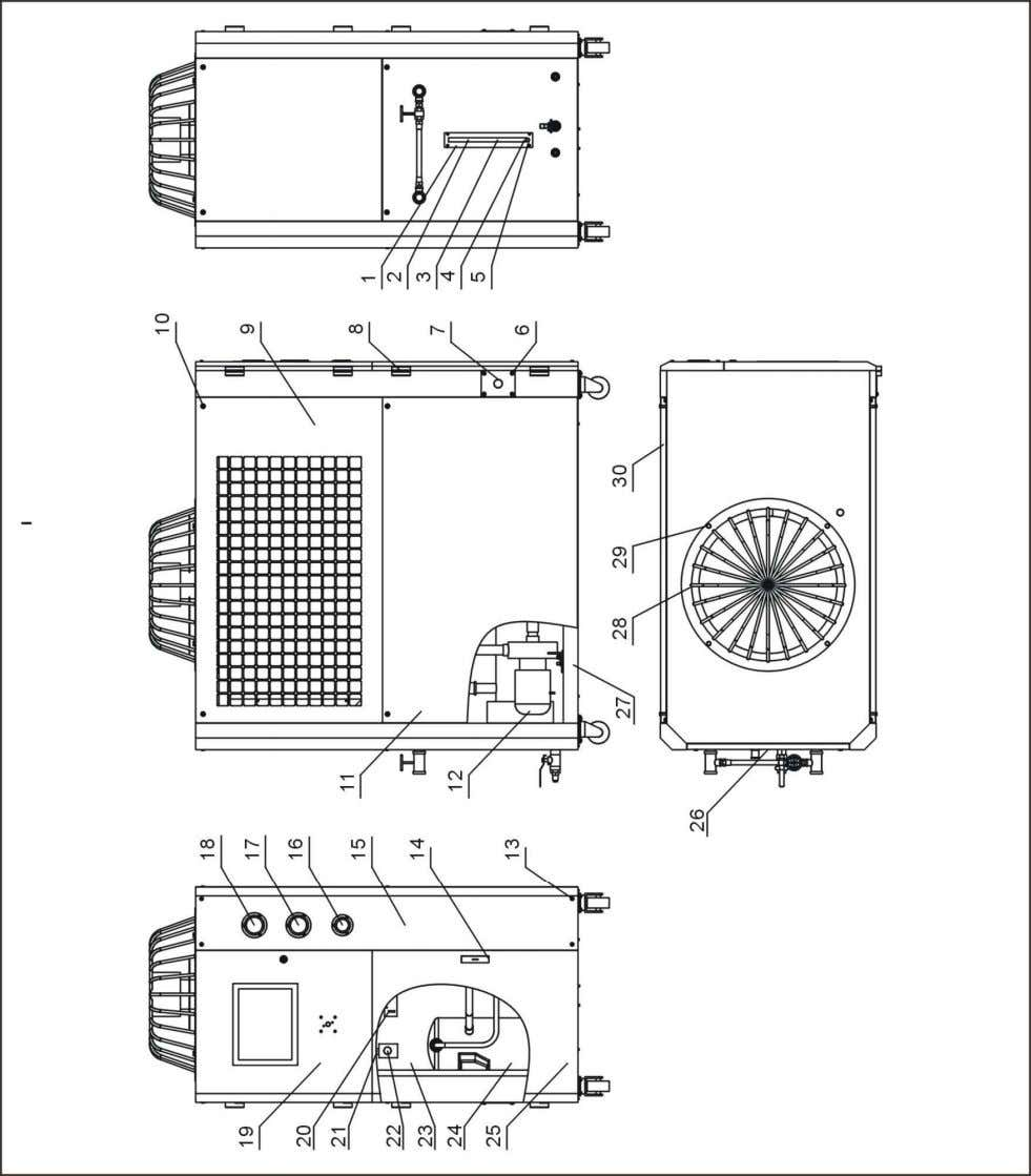 2.2.7 General Assembly Diagram (SIC-7.5A-R2) Note: For details of the numbers in the parts drawing,