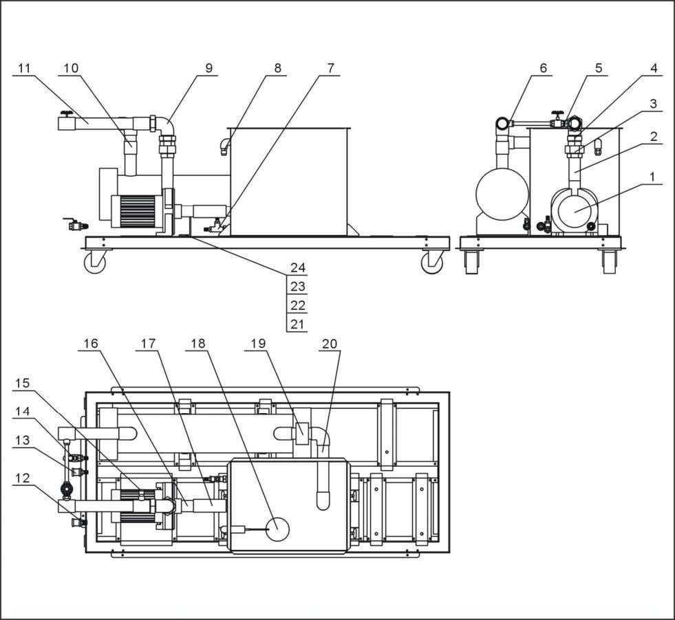 2.2.19 Water System Diagram (SIC-18A-R2~24A-R2) Note: For details of the numbers in the parts drawing,