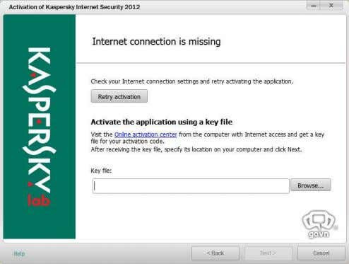 5. Enable your Internet Connection. Update KIS 2012 beta