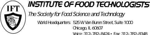 The Society for Food Science and Technology