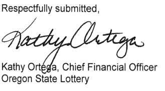 financial reporting. In addition, we appreciate the direction and support provided by the Lottery Commission. 5