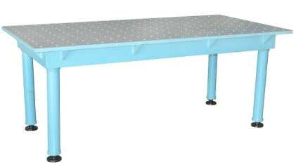2D Welding Table Available in Steel. Only 3m x 1.5m require 6 legs, others require 4
