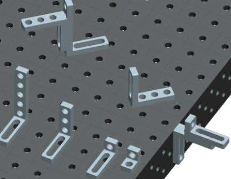 6. Clamping and locating angle bores / Bores / Oblong hole medium  Combination system