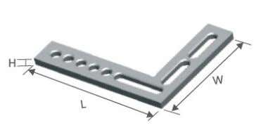 2. Flat angle bar Features:  full stop surfaces interior and exterior  many options through