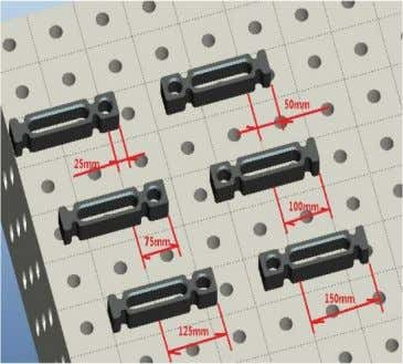 clamping options.  In table bore pattern lockable and attachable 5-sided by means of PC bolts